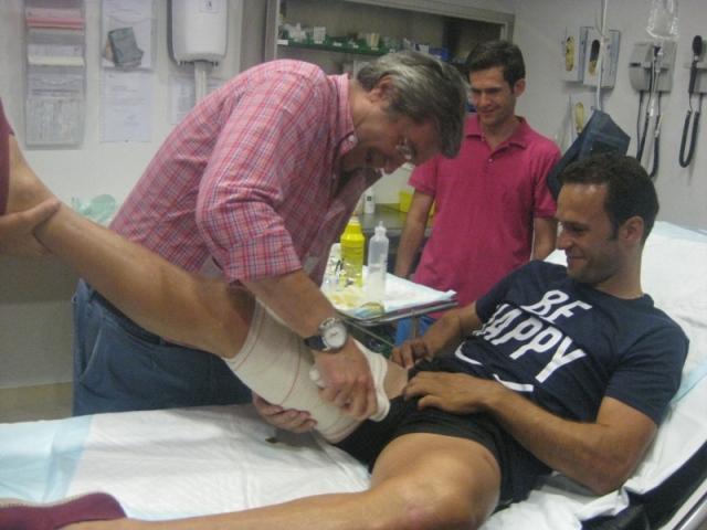 A pesar del percance, ni Antonio ni su hermano Diego, pierden la sonrisa