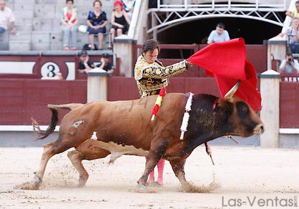 El toro pasaba como un mercancías. (FOTO:Juan Pelegrín/Las-Ventas.com)