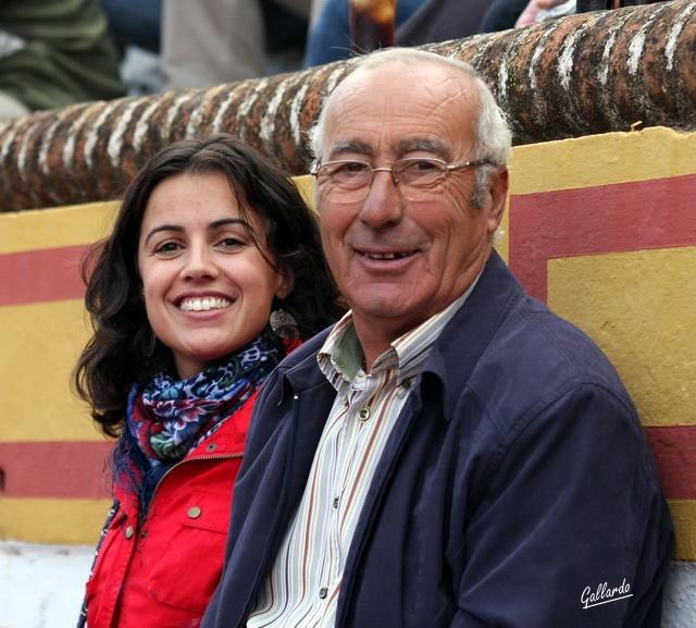 Cipriano Píriz orgulloso junto a su hija Puri.