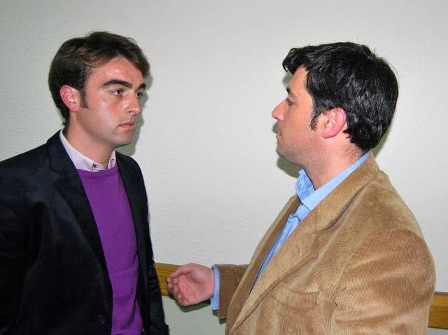 Jesús Márquez y Antonio Girol durante la entrevista. (FOTO: Fco. J. Campos)
