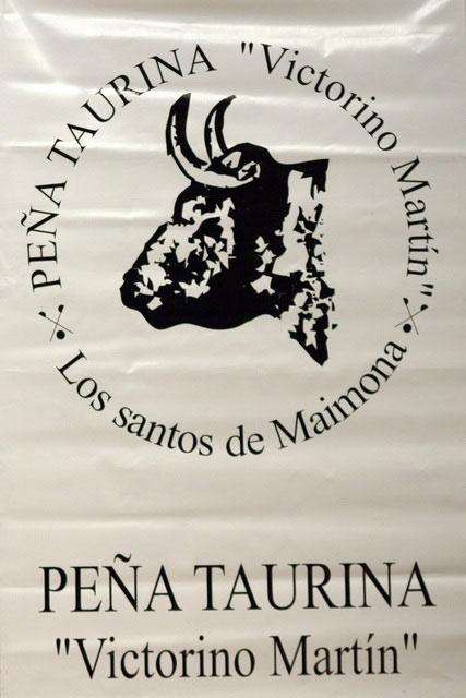 Logo de la Peña Taurina 'Victorino Martín' de Los Santos. (FOTO:Gallardo)