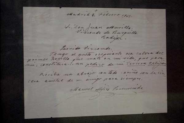 Carta de 'El Papa Negro' al Vizconde de Burguillos que acompañó a un regalo muy especial...