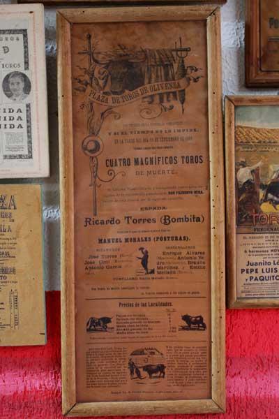 Olivenza, año 1903, actúa Bombita. Hoy sigue siendo parada y fonda de grandes maestros.