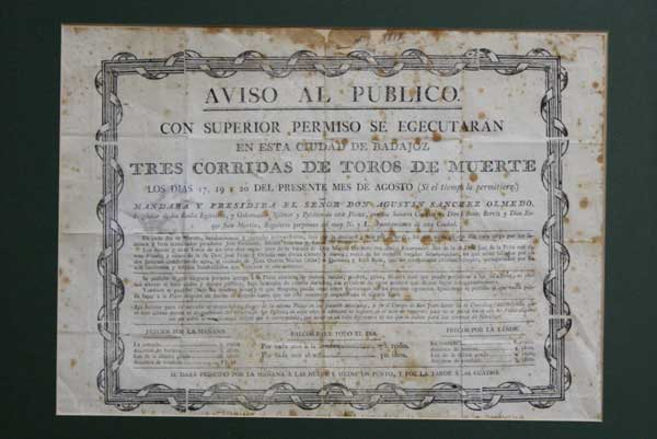 Fuentes, Montes y El Algabeño anunciados en el cartel de Badajoz de 1900