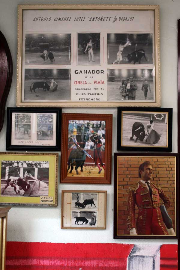 Rincón de toreros extremeños de la talla de 'Antoñete', Ángel Quintana, Juan López Gago, Fernando González o Gallito de Zafra, entre otros.