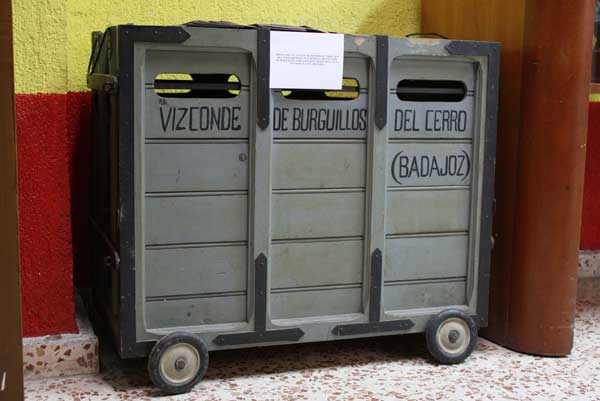 El famoso cajón donde el Vizconde mandaba cada Navidad un pavo a la familia Bienvenida.