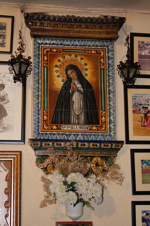 La Sala de Toreros, bajo la advocación de la imagen de la Soledad.