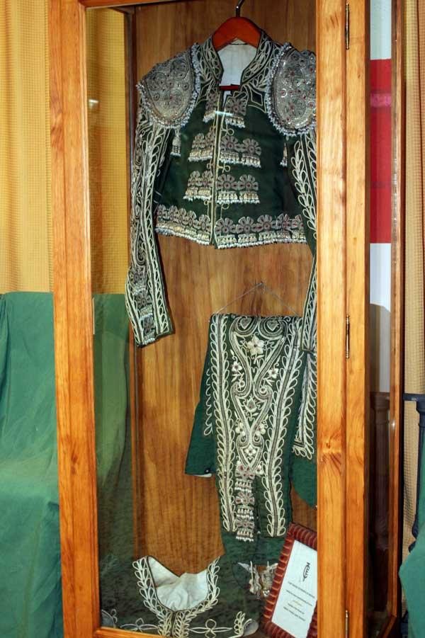 Javier Elbal dejó para la historia este traje, a su hijo Pepe y su recuerdo imperecedero.
