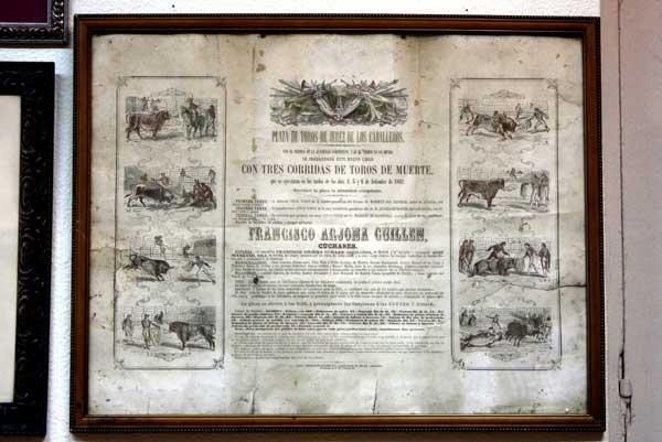 Las tres primeras corridas que se dieron en la plaza de Jerez de los Caballeros en septiembre de 1862.