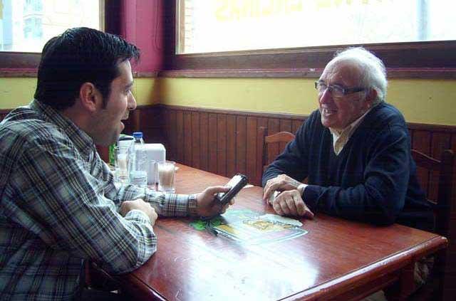 Un momento de la entrevista mantenida con Juan Ángel Franco. (FOTO: José García)