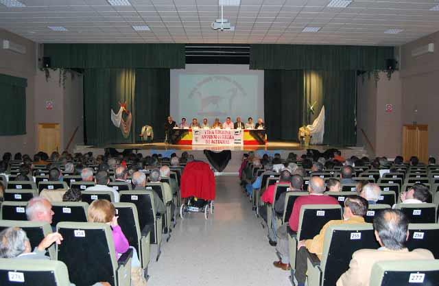 El salón estaba lleno hasta la bandera, señal inequívoca de la afición que hay en Don Benito.