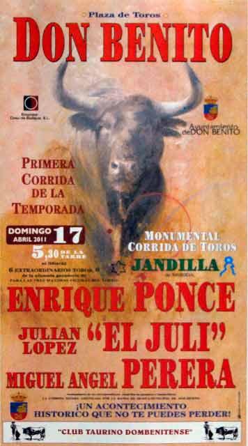 El cartelazo de la inauguración en la que esará Perera.