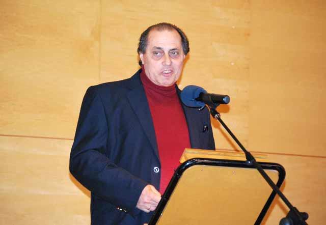 Mariano Gallego, alcalde de Don Benito loando a su pueblo y su afición.