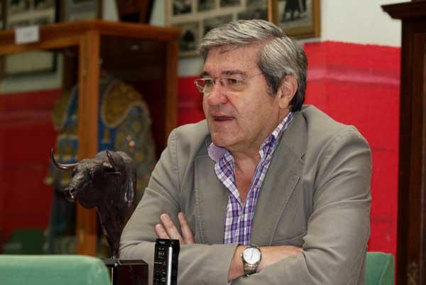 Luis Carlos Franco García, Presidente del Club Taurino Extremeño de Badajoz. (FOTO:Gallardo)