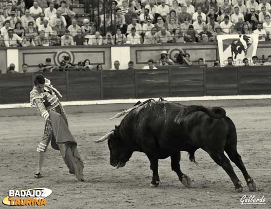 Primeras arrancadas de un toro con poco motor.