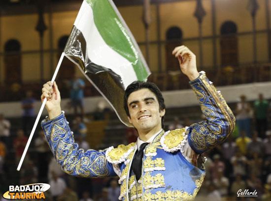 Miguel Ángel triunfador en el día de Extremadura. (FOTO: Gallardo)