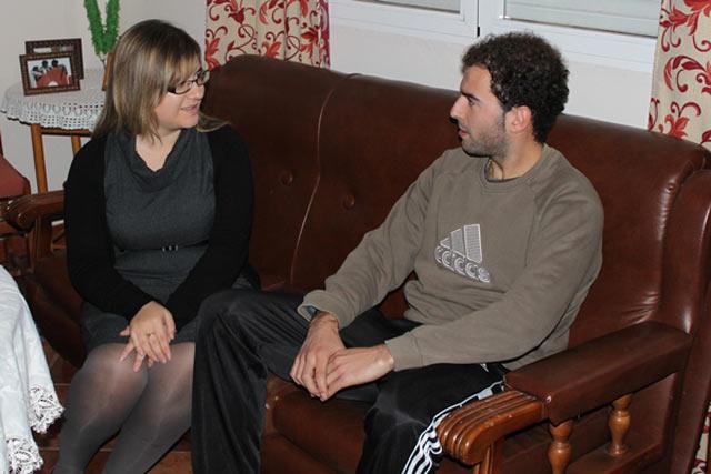 Jaime atendiendo a la entrevista. (FOTO: Sandra Carbonero)