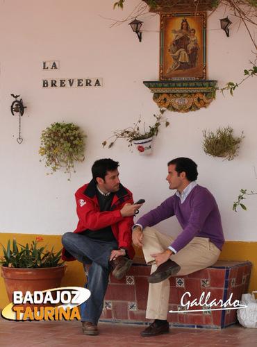 Luis Miguel Amado respondiendo a las preguntas de la entrevista. (FOTO:Gallardo)