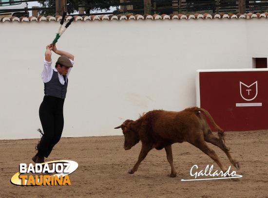 Juan Luis Moreno gustándose con los palos.