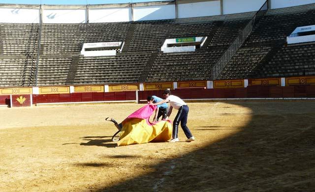 Fernando González gusta de manejar con soltura el capote en la brega