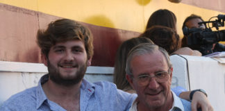Ladi que hoy cumplía años junto a Gonzalo, jefe de porteros.