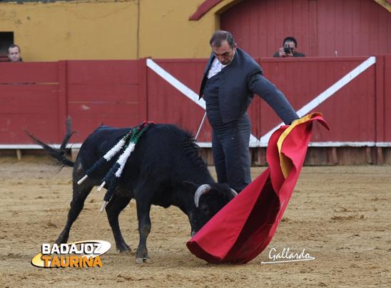 Pepe Elbal toreando al natural. (FOTO: Gallardo)