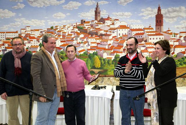 Durante el acto de homenaje que recibió por parte de la Diputación el 26 de enero pasado. (FOTO: CEDIDA)