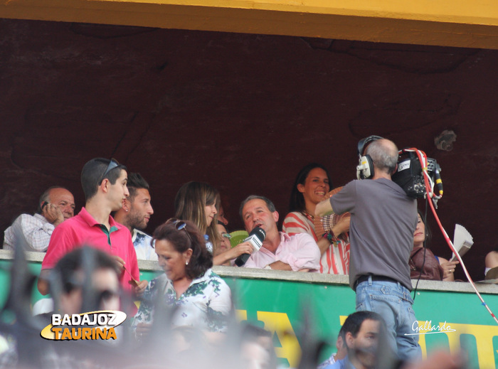 Miguel Ruiz en el palco del Plus