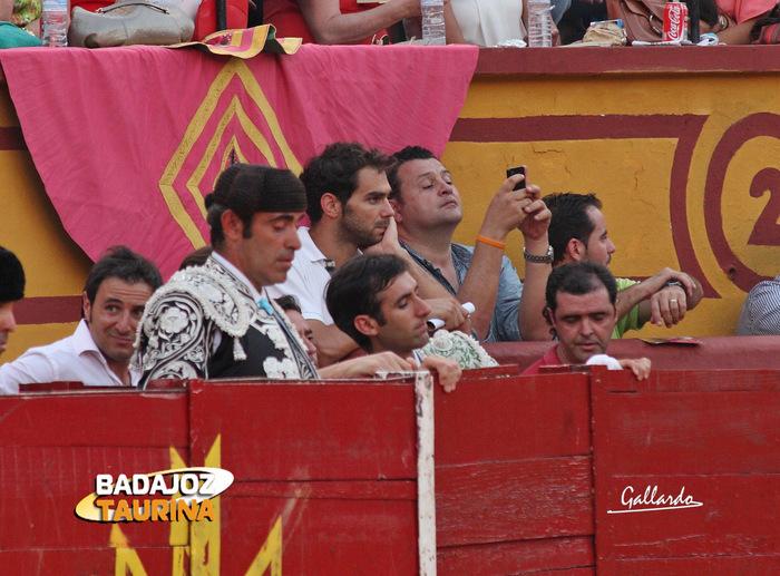 José Manuel Calderón viendo a su amigo Perera