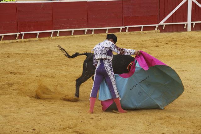 Rubén Lobato el día de su debut con picadores