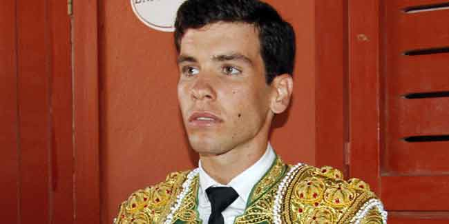 El novillero pacense Tomás Campos.