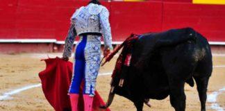 Toreo por bajo y ajustado de Ferrera hoy en Valencia. (FOTO: mundotoro.com)