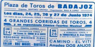 Cartel de 1974, año en que tampoco hubo toros el día de San Juan.