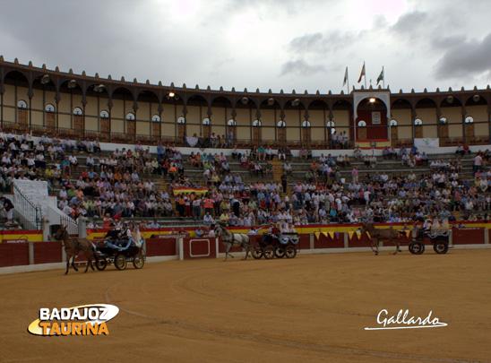 Interior de la plaza de toros de Almendralejo. (FOTO: Gallardo)