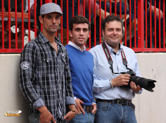 Curro Damián, Luis Domínguez e Ismael Rodríguez