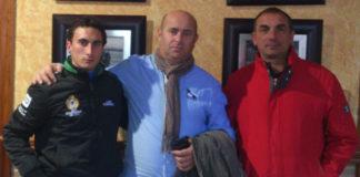 García Corbacho, Francisco Cáceres y Pepe Elbal tras cerrar el apoderamiento (FOTO: CEDIDA)