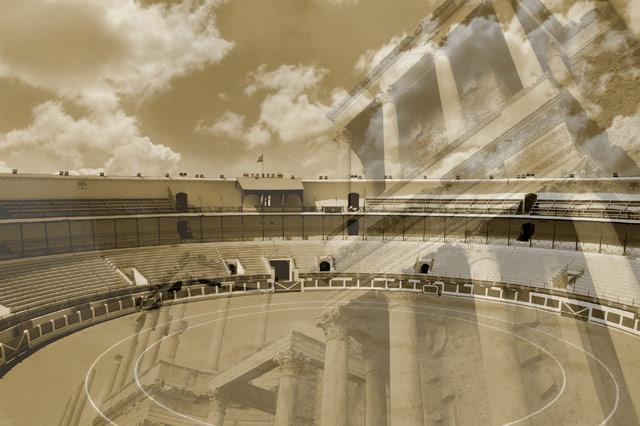 La plaza de Mérida fundida con el teatro romano. (FOTO: Jesús Casillas)