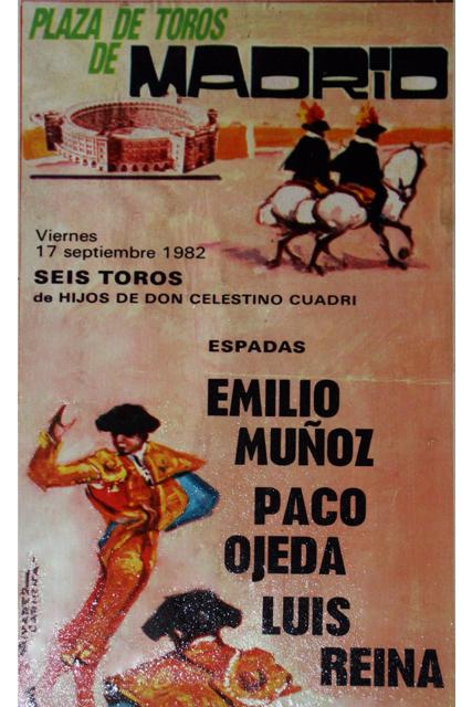 En Madrid, con dos toreros de época