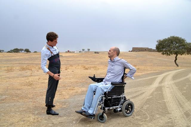 Tomás Campos y su apoderado Paco Ruiz, charlando antes del tentadero (FOTO: Fco. J. Campos)