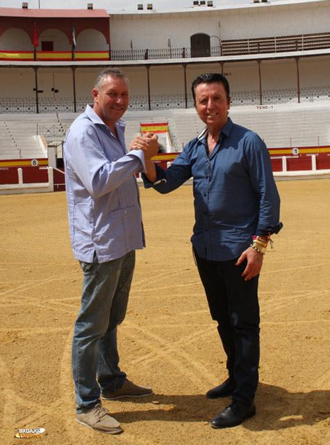 Vicente Elices y Ortega Cano sumando voluntades en Mérida (FOTO: Gallardo)