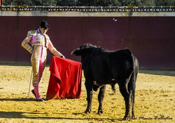 Juanito en la ganadería de José Luis Marca
