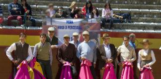 Los aficionados prácticos antes de actuar (FOTO:Antonio Álvarez)