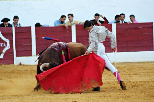 Luis Manuel Terrón en la novillada de Barcarrota