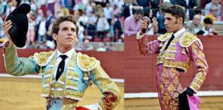 Ginés Marín y Alejandro Talavante en la plaza de toros de Córdoba (FOTO:FIT)