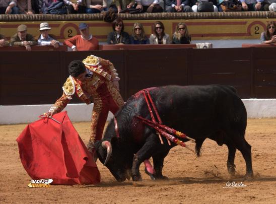 Luis Manuel Terrón el día de su debut en Olivenza