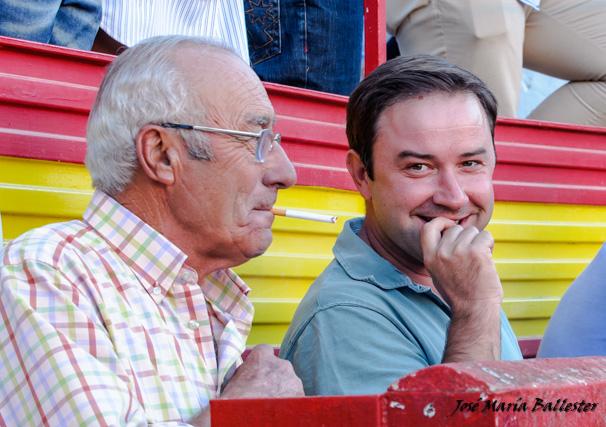 Cipriano Píriz y Carlos Muñoz compartiendo 'picardías'