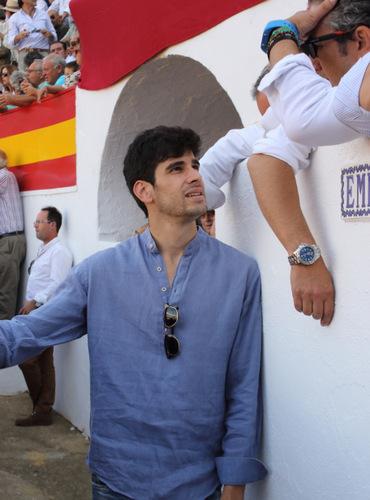 El torero Alberto López Simón quiso acompañar a su amigo Silva
