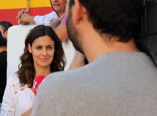 Belén Marín y el cámara Tonino en el tajo