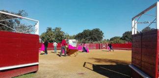 Alumnos del Taller de Toreo de Salón de Badajoz en la clase inaugural
