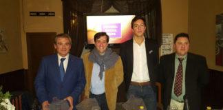 Luis Reina, Antonio Girol, Miguel Ángel Silva y Juan Carlos Caballero tras la charla